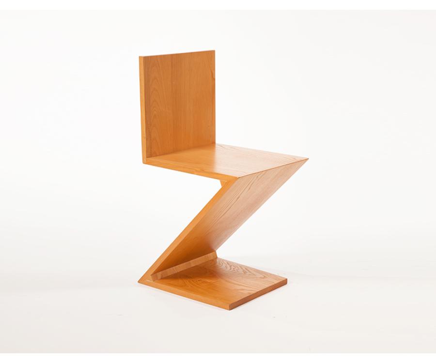 Rietveld stuhl zeichnung  I❶I Gerrit Rietveld Zig-Zag Chair - 529 € - Made in Italy