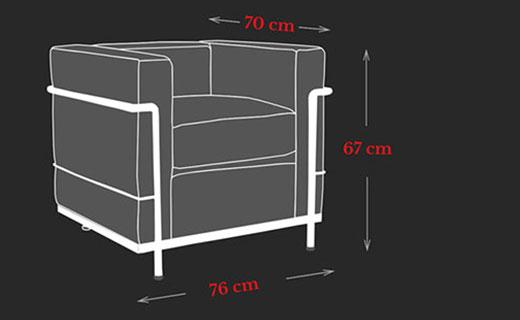 LC2 Sessel Maße