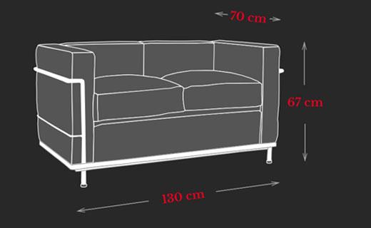LC2 Sofa Maße