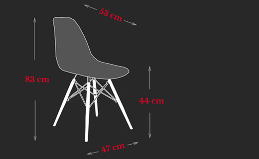 DSW Chair Charles Eames Maße