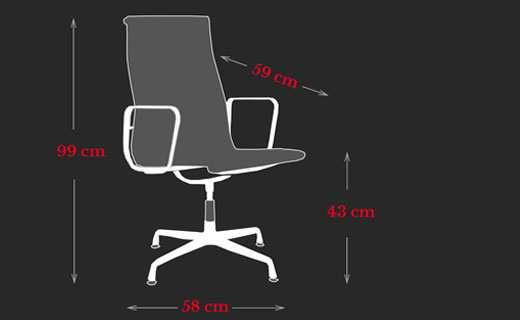 Executive Chair Charles Eames Maße
