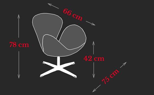 Swan Chair Arne Jacobsen Maße