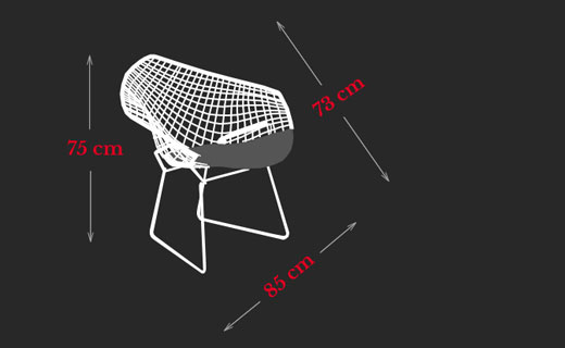 Diamond Chair Harry Bertoia Maße