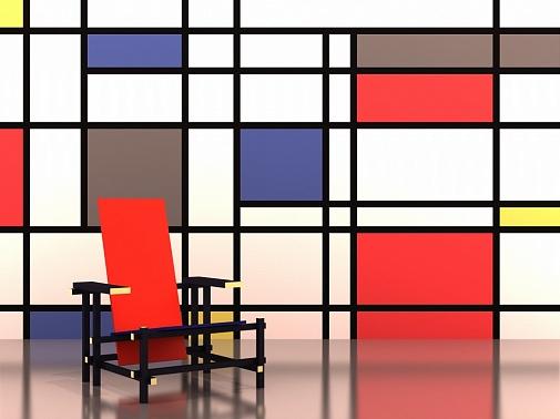 I i gerrit rietveld zig zag chair 529 made in italy - Rot blauer stuhl ...