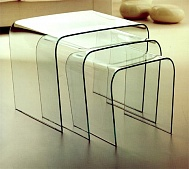 Triora Table bended Glass from stock